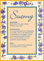 Nombre Suemy