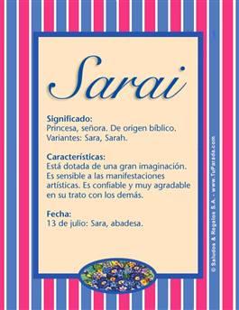 Nombre Sarai