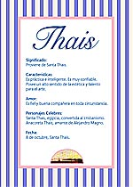 Nombre Thais