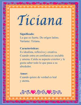 Nombre Ticiana