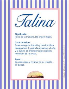 Nombre Talina