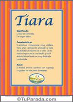 Nombre Tiara