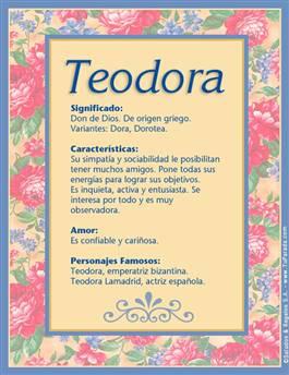 Nombre Teodora