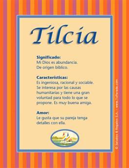 Nombre Tilcia