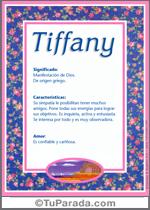 Nombre Tiffany