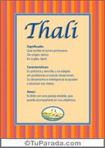 Nombre Thali