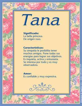 Nombre Tana