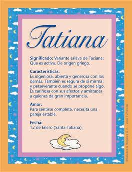 Nombre Tatiana
