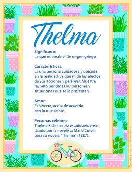 Nombre Thelma