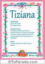 Nombre Tiziana