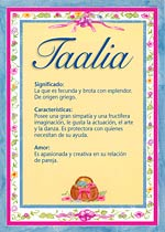 Nombre Taalia