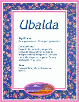 Nombre Ubalda