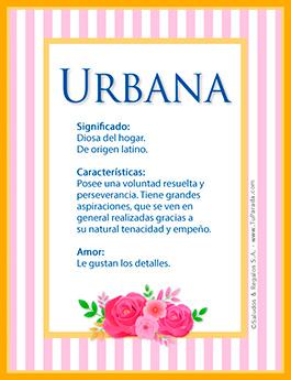 Nombre Urbana