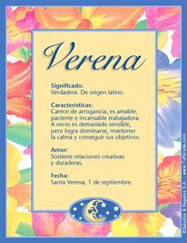 Nombre Verena