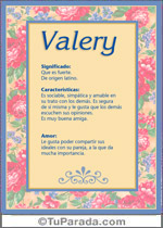 Nombre Valery