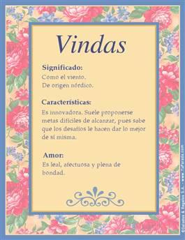 Nombre Vindas