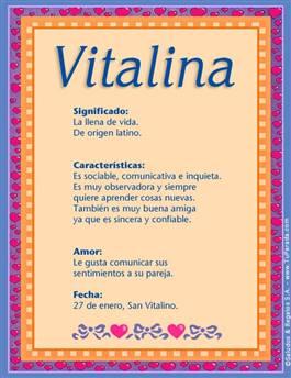 Nombre Vitalina