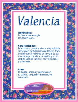 Nombre Valencia