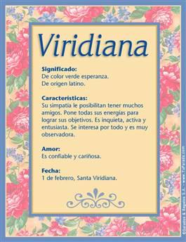 Nombre Viridiana