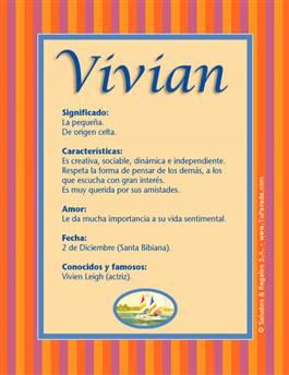 Nombre Vivian