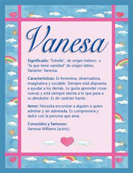 Nombre Vanesa