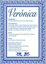 Nombre Verónica