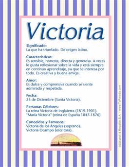 Nombre Victoria
