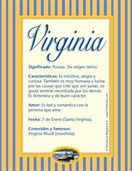 Nombre Virginia