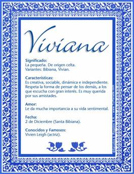 Nombre Viviana
