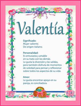 Nombre Valentía