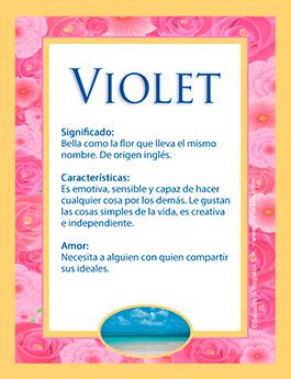 Nombre Violet
