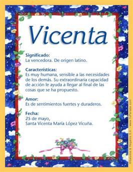 Nombre Vicenta