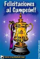 Felicitaciones al Campeón.
