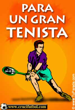 Tarjeta - Para un gran tenista.