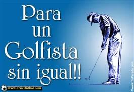 Para un golfista sin igual.