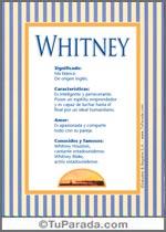 Nombre Whitney