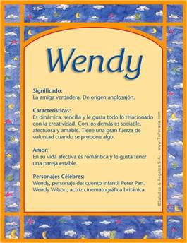 Nombre Wendy