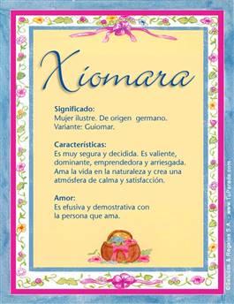 Nombre Xiomara