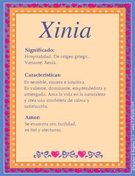 Nombre Xinia
