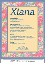 Nombre Xiana