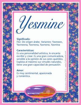 Nombre Yesmine
