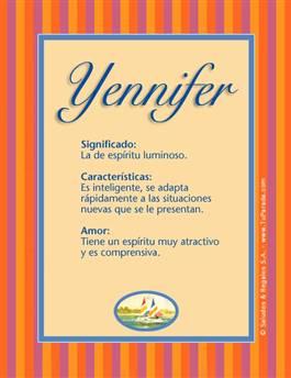 Nombre Yennifer
