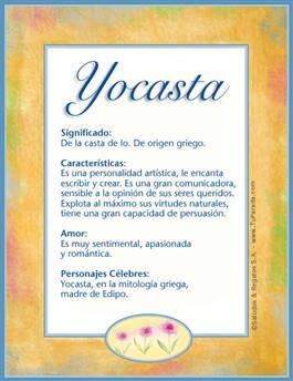 Nombre Yocasta