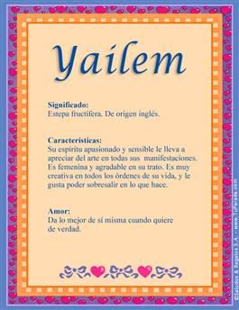 Nombre Yailem