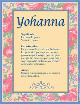 Nombre Yohanna