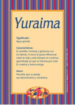 Nombre Yuraima