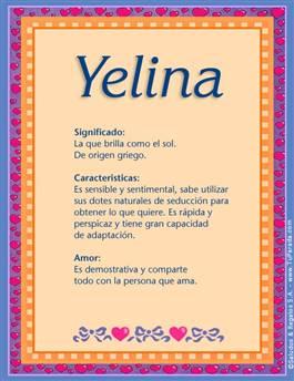 Nombre Yelina