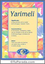 Nombre Yarimeli