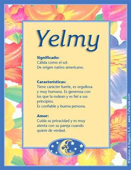 Nombre Yelmy