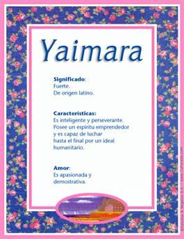 Nombre Yaimara